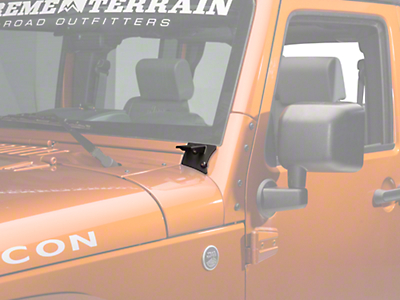 Barricade Windshield Mounted Light Brackets - Textured Black (07-18 Wrangler JK)