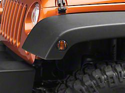 Barricade Side Marker Guard; Textured Black (07-18 Jeep Wrangler JK)