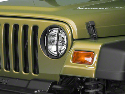 Barricade Headlight Guard - Textured Black (97-06 Wrangler TJ)