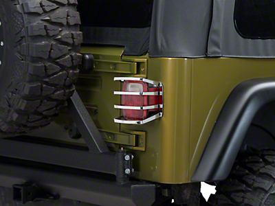 Barricade Tail Light Guard - Polished (87-06 Jeep Wrangler YJ & TJ)