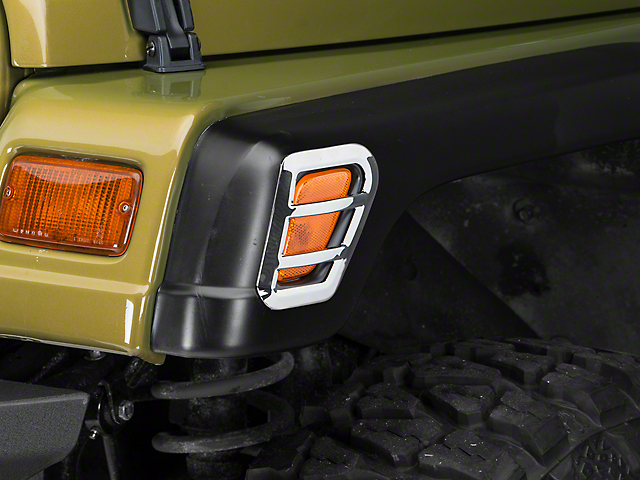 Barricade Side Marker Guard - Polished (97-06 Jeep Wrangler TJ)