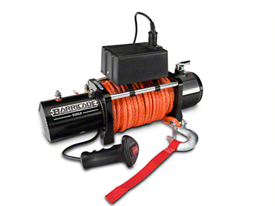 Barricade 9,500 lb. Winch w/ Synthetic Rope (87-19 Jeep Wrangler YJ, TJ, JK & JL)