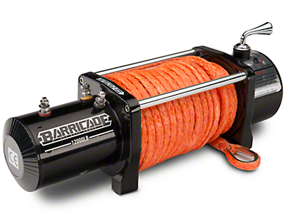 Barricade 12,000 lb. Winch w/ Synthetic Rope (87-19 Jeep Wrangler YJ, TJ, JK & JL)