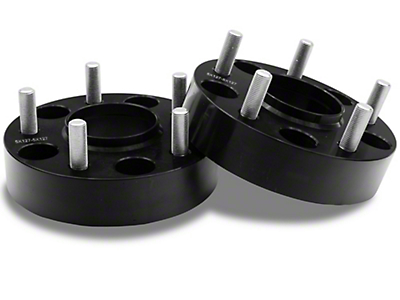 RedRock 4x4 1.5 in. Wheel Spacers - Black - 5x5 Bolt Pattern (07-18 Jeep Wrangler JK)