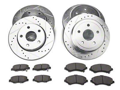 Power Stop Z23 Evolution Sport Brake Rotor & Pad Kit - Front & Rear (07-18 Wrangler JK)