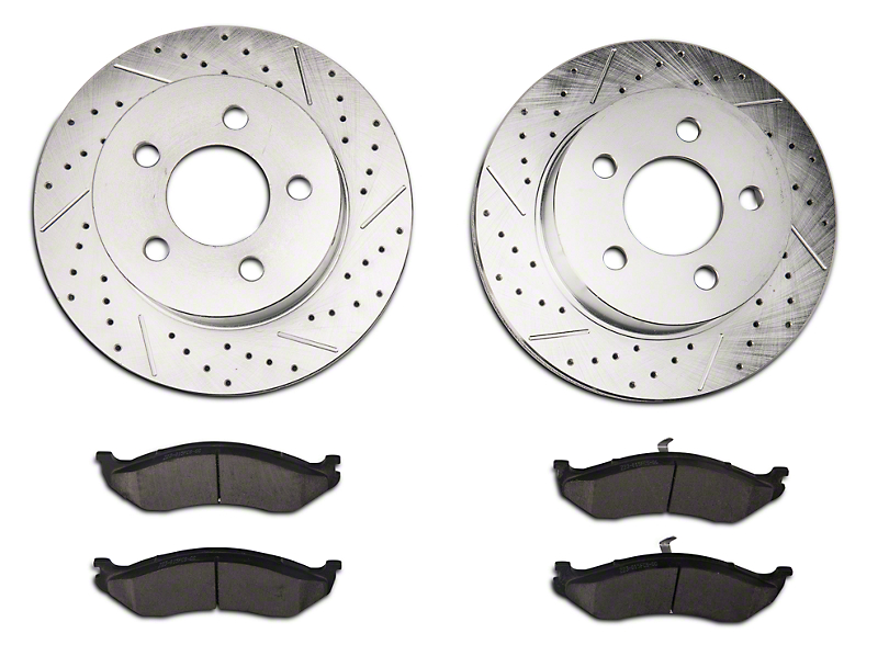 Power Stop Z23 Evolution Sport Brake Rotor & Pad Kit - Front (1999 Jeep Wrangler TJ w/ 3 in. Cast Rotors; 00-06 Jeep Wrangler TJ)