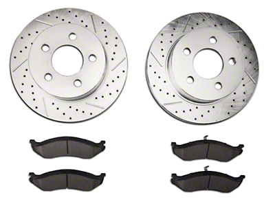 Power Stop Z23 Evolution Sport Brake Rotor & Pad Kit - Front (1999 Wrangler TJ w/ 3 in. Cast Rotors; 00-06 Wrangler TJ)