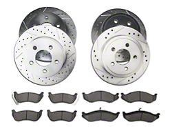 Power Stop Z23 Evolution Sport Brake Rotor and Pad Kit; Front and Rear (03-06 Jeep Wrangler TJ w/ Rear Disc Brakes)