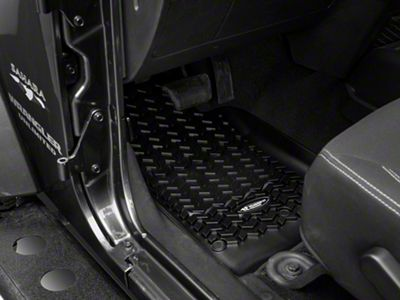 Rugged Ridge All-Terrain Front Floor Mats - Black (14-18 Jeep Wrangler JK)