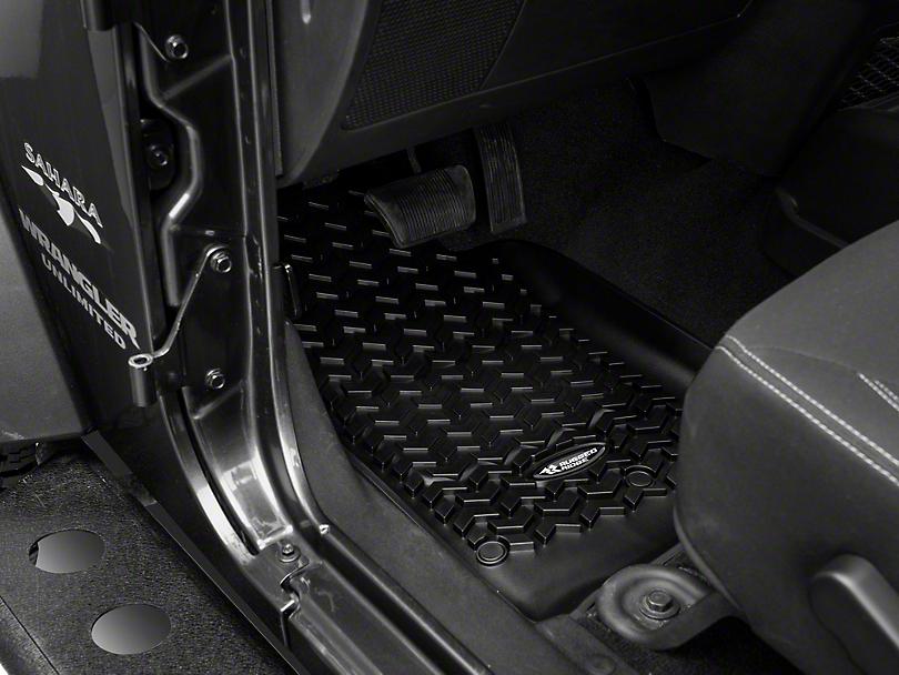 Rugged Ridge All-Terrain Front Floor Mats - Black (14-18 Jeep Wrangler JK)