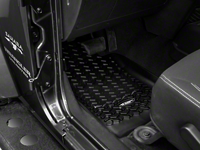 Rugged Ridge All Terrain Front Floor Liners - Black (14-18 Wrangler JK)