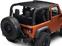Rugged Ridge Full-Length Eclipse Sun Shade; Black (07-18 Jeep Wrangler JK 2 Door)