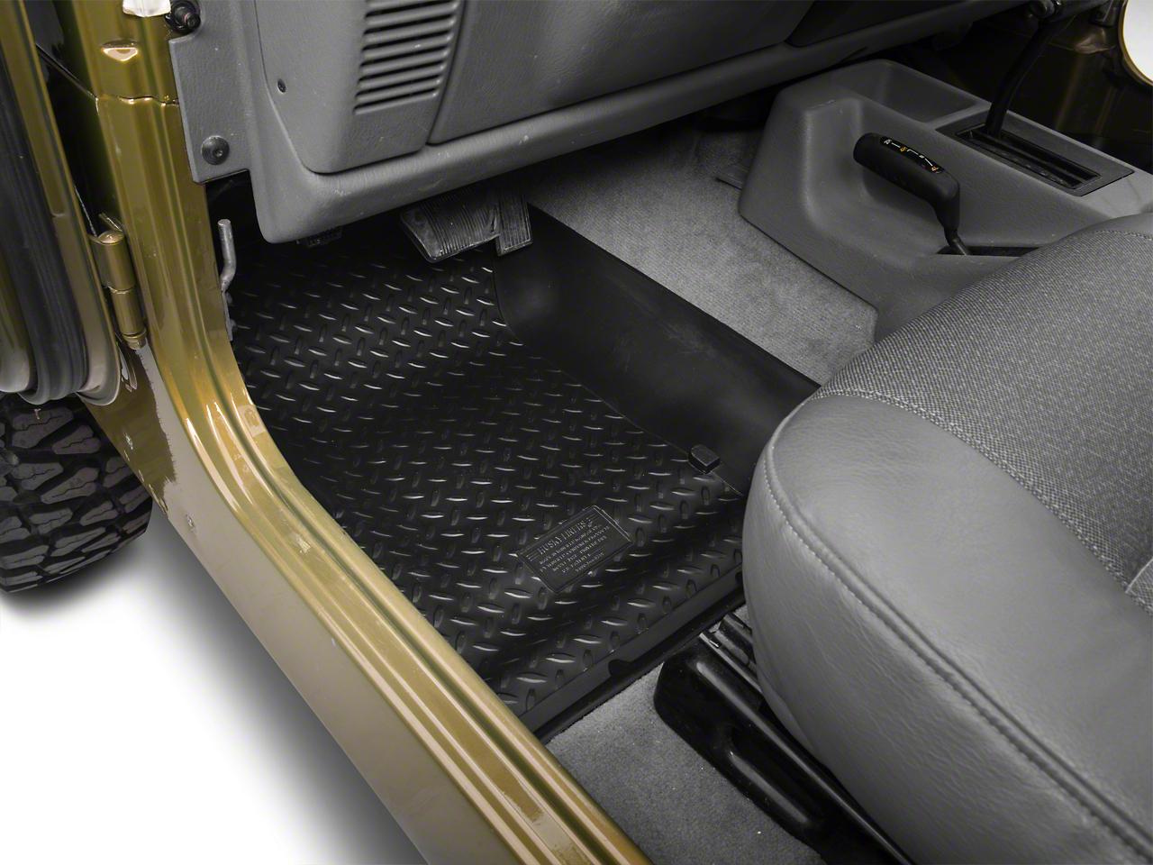 Husky Front Floor Liners - Black (97-06 Jeep Wrangler TJ)