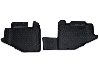 Husky Rear Floor Liners - Black (97-06 Jeep Wrangler TJ)