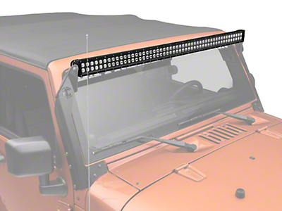 KC HiLiTES 50 in. C-Series C50 LED Light Bar - Spot/Spread Combo (87-18 Wrangler YJ, TJ, JK & JL)
