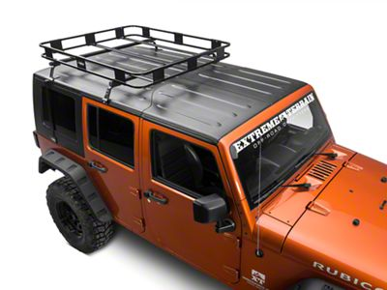 Surco Safari Removable Hard Top Rack w/ Basket (07-18 Jeep Wrangler JK)