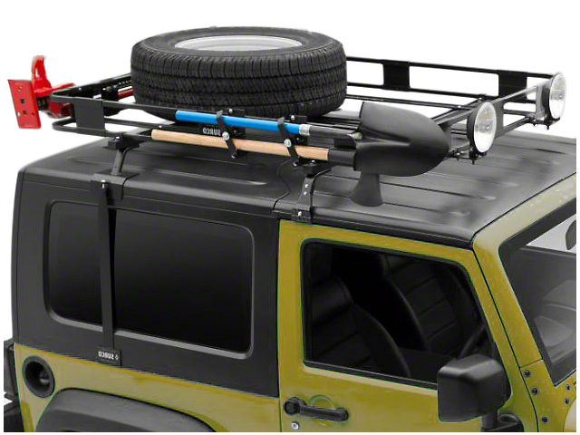 surco jeep wrangler safari removable hard top rack w basket j100860 97 06 jeep wrangler tj. Black Bedroom Furniture Sets. Home Design Ideas