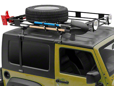 Surco Safari Removable Hard Top Rack w/ Basket (97-06 Wrangler TJ)