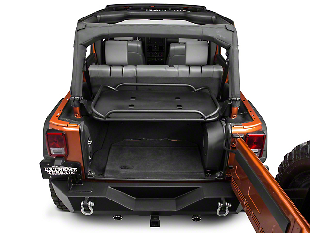 rampage wrangler rear sport rack 86623 (07-18 jeep wrangler jk