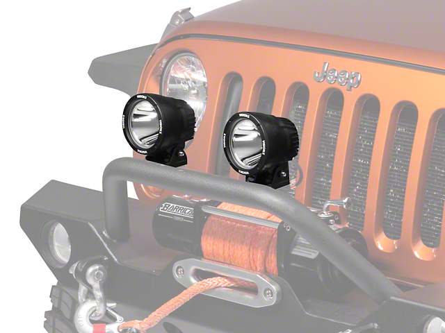 Vision X PolyCarbonate Cover for 4.5 In. Light Cannon - Yellow (87-19 Jeep Wrangler YJ, TJ, JK & JL)