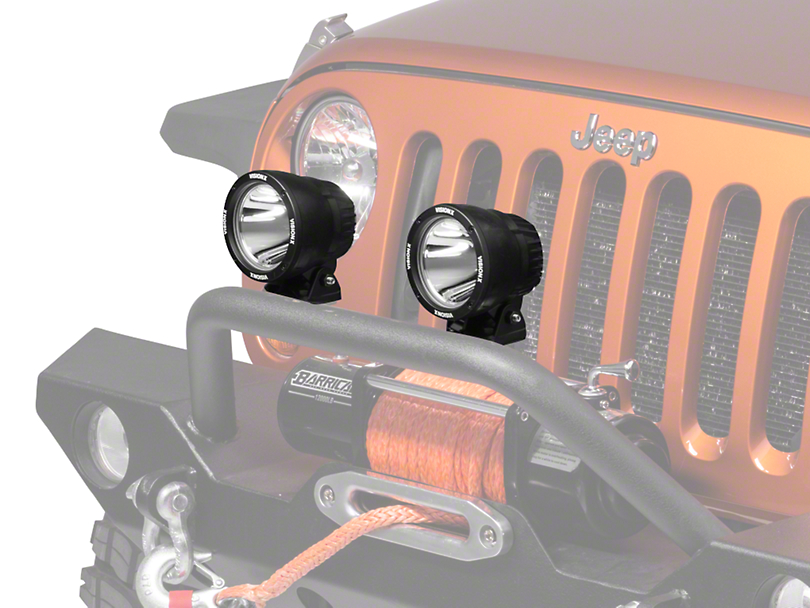 Vision X Yellow PolyCarbonate Euro Beam Cover - 4.5 in. Cannon (87-19 Jeep Wrangler YJ, TJ, JK & JL)