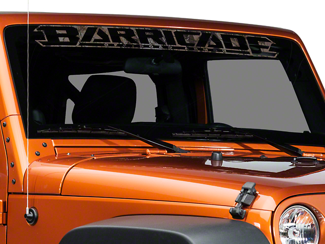 SEC10 Barricade Windshield Decal; Real Tree (87-20 Jeep Wrangler YJ, TJ, JK & JL)