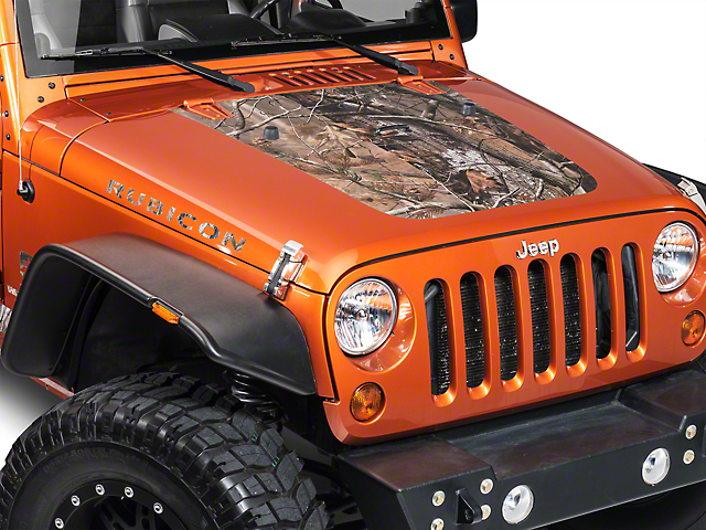 Hood Decal - Real Tree (07-18 Jeep Wrangler JK)