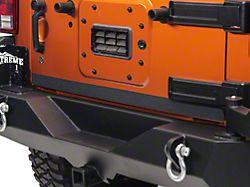 SEC10 Rear Door Edge Body Shield Decal; Black (07-18 Jeep Wrangler JK)