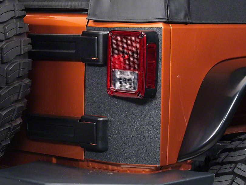 Barricade Rear Corner Body Shield Decal - Black (07-18 Wrangler JK)
