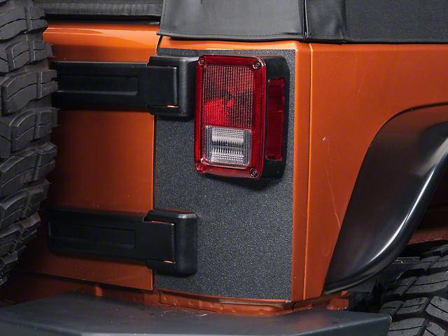 SEC10 Rear Corner Body Shield Decal; Black (07-18 Jeep Wrangler JK)