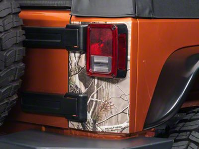Rear Corner Decal - Real Tree (07-19 Jeep Wrangler JK & JL)