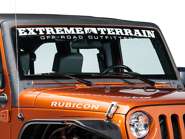 Barricade Windshield Frame Body Shield Decal - Black (07-18 Jeep Wrangler JK)