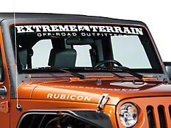 SEC10 Windshield Frame Body Shield Decal; Black (07-18 Jeep Wrangler JK)