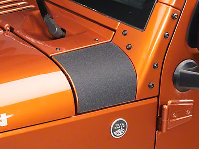 Barricade Outer Cowl Body Shield Decal - Black (07-17 Wrangler JK)