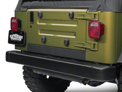Barricade Rear Sill Body Shield Decal - Black (97-06 Jeep Wrangler TJ)
