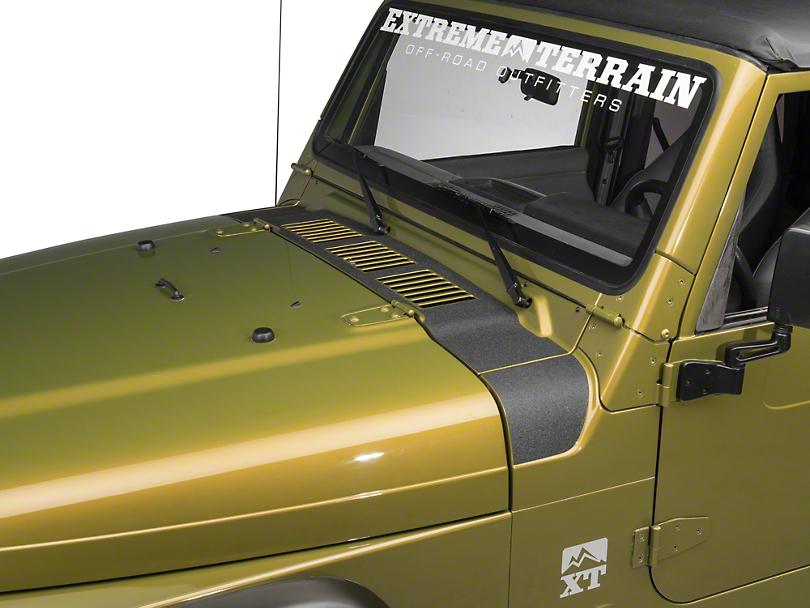 Redrock 4x4 Jeep Wrangler Cowl Body Shield Decal Black
