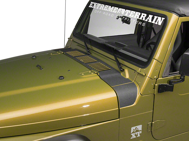RedRock 4x4 Cowl Body Shield Decal - Black (97-06 Jeep Wrangler TJ)