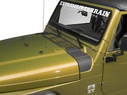 SEC10 Cowl Body Shield Decal; Black (98-06 Jeep Wrangler TJ)