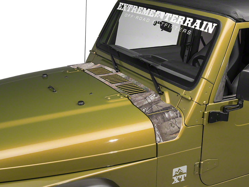 Cowl Decal - Real Tree (97-06 Jeep Wrangler TJ)