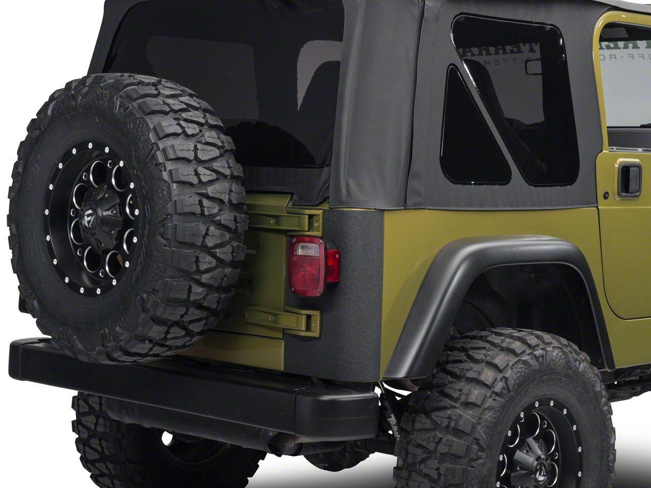 Barricade Rear Corner Body Shield Decal - Black (97-06 Jeep Wrangler TJ)