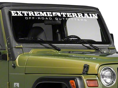 Barricade Windshield Frame Body Shield Decal - Black (97-06 Jeep Wrangler TJ)