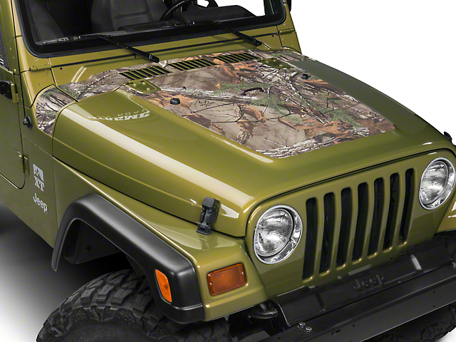 SEC10 Cowl/Hood Combo Decal; Real Tree (97-06 Jeep Wrangler TJ)