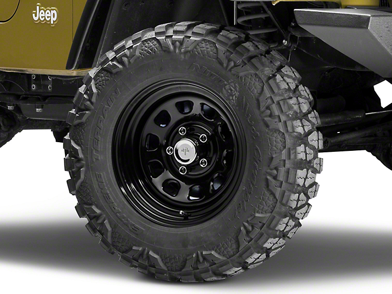 Mammoth D Window Black Steel Wheel 15x10 (87-06 Wrangler YJ & TJ)