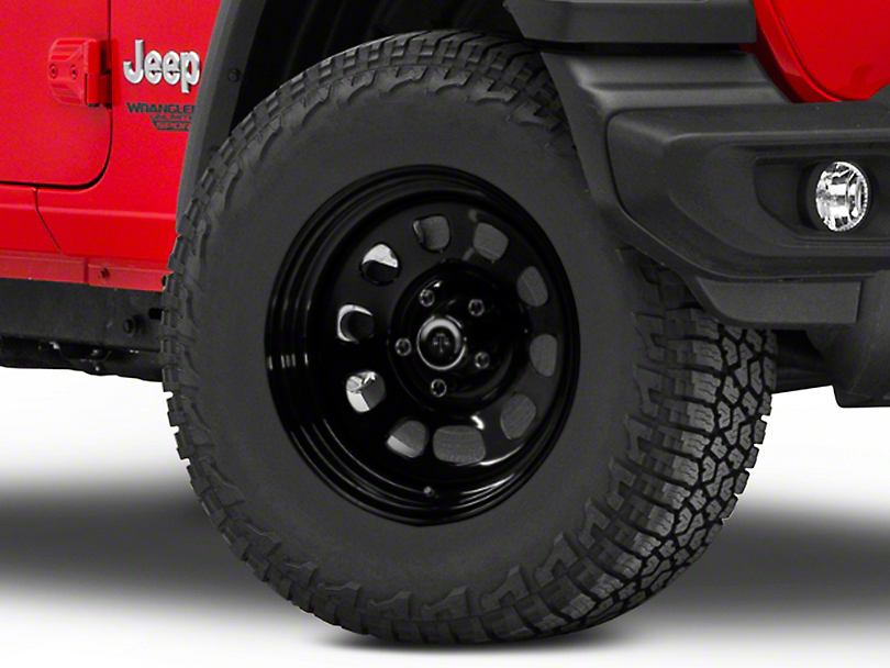 Mammoth D Window Black Steel Wheel - 17x9 (18-19 Jeep Wrangler JL)