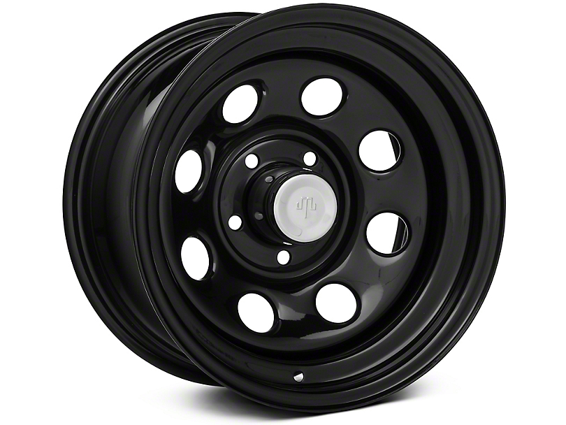 Mammoth 8 Black Steel Wheel; 15x8 (87-95 Jeep Wrangler YJ)