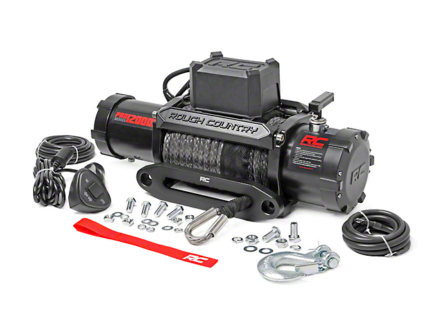 Rough Country PRO Series 12,000 lb. Winch with Synthetic Rope