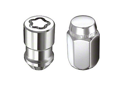 McGard Chrome Hex Lug Nut Kit w/ Wheel Locks - 13/16 in. (87-18 Wrangler YJ, TJ & JK)