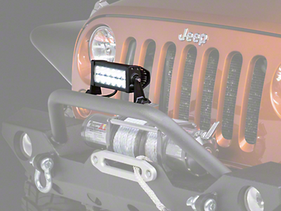 Raxiom 7.5 in. Double Row LED Light Bar - Flood/Spot Combo (87-18 Wrangler YJ, TJ & JK)