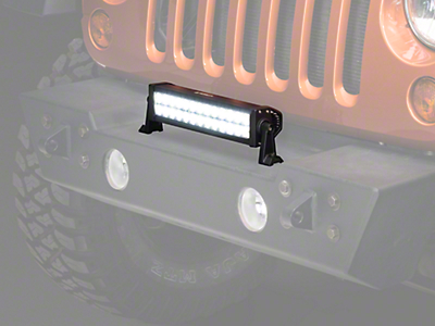 Raxiom 13.5 in. Double Row LED Light Bar - Flood/Spot Combo (87-18 Wrangler YJ, TJ, JK & JL)