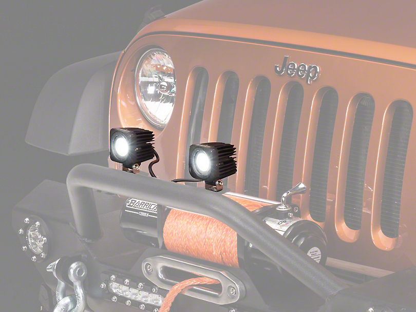 Raxiom 2.5 in. Square Single LED Light (87-17 Wrangler YJ, TJ & JK)
